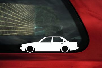 2x Low car outline stickers - Toyota Carina TA63 (A60) Sedan